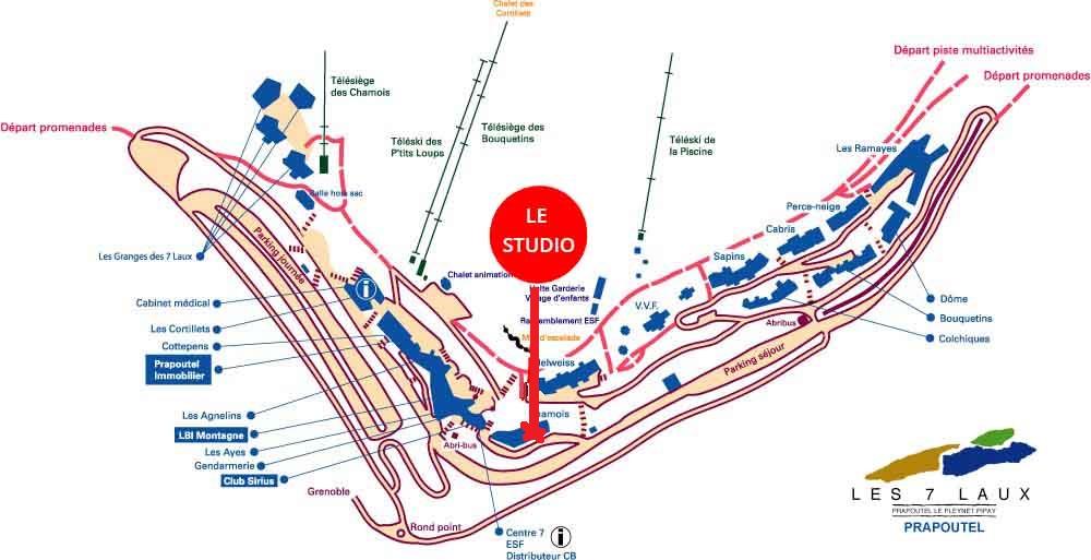 plan prapoutel studio chamois 2